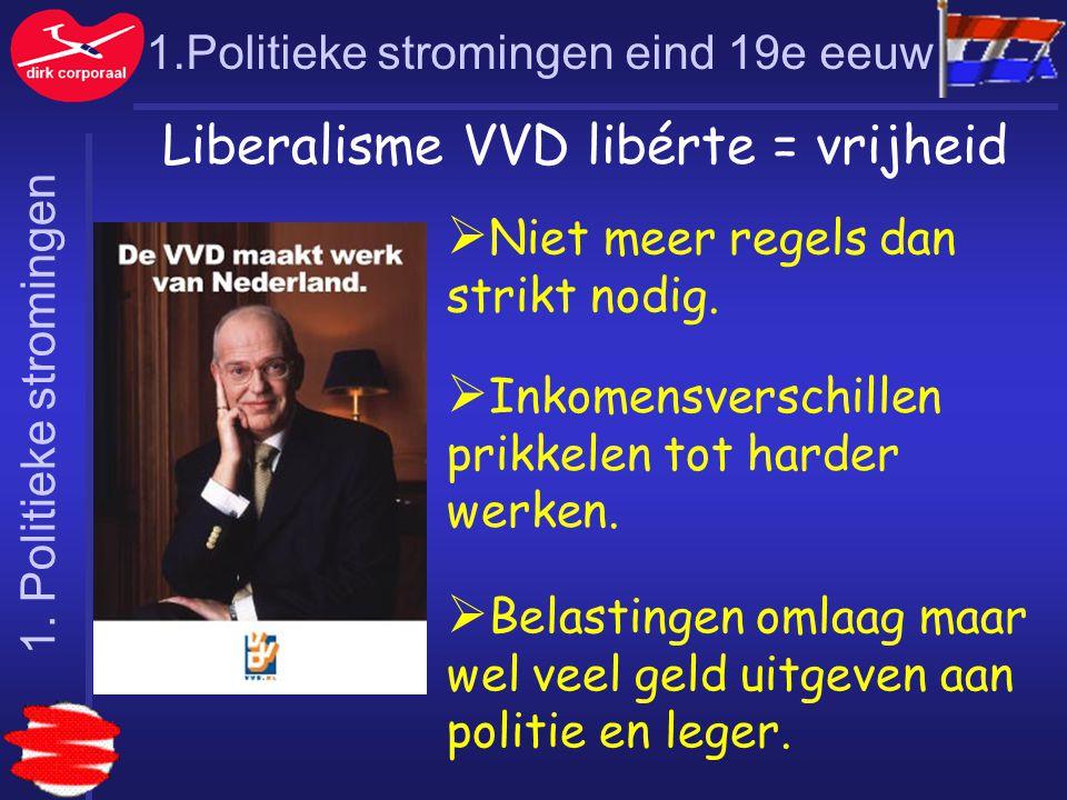 Liberalisme VVD libérte = vrijheid