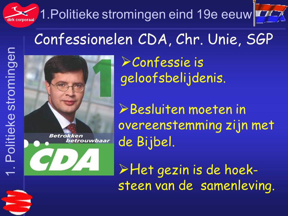 Confessionelen CDA, Chr. Unie, SGP