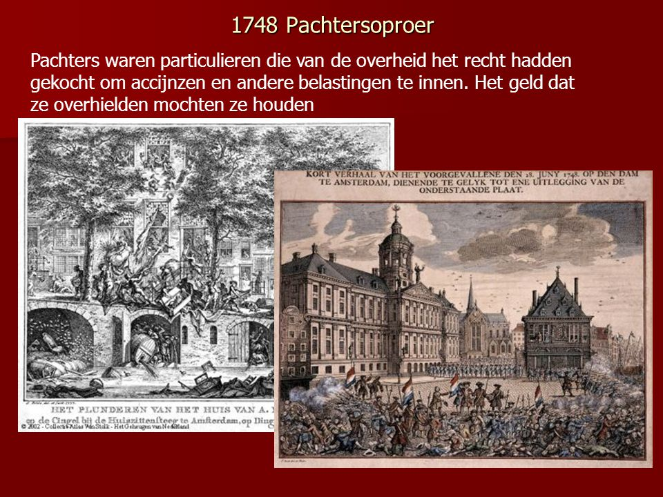 1748 Pachtersoproer