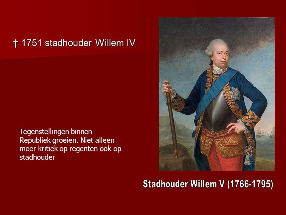 Stadhouder Willem V (1766-1795)