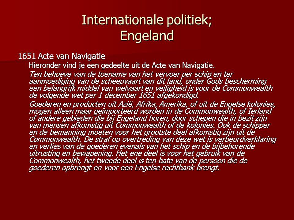 Internationale politiek; Engeland