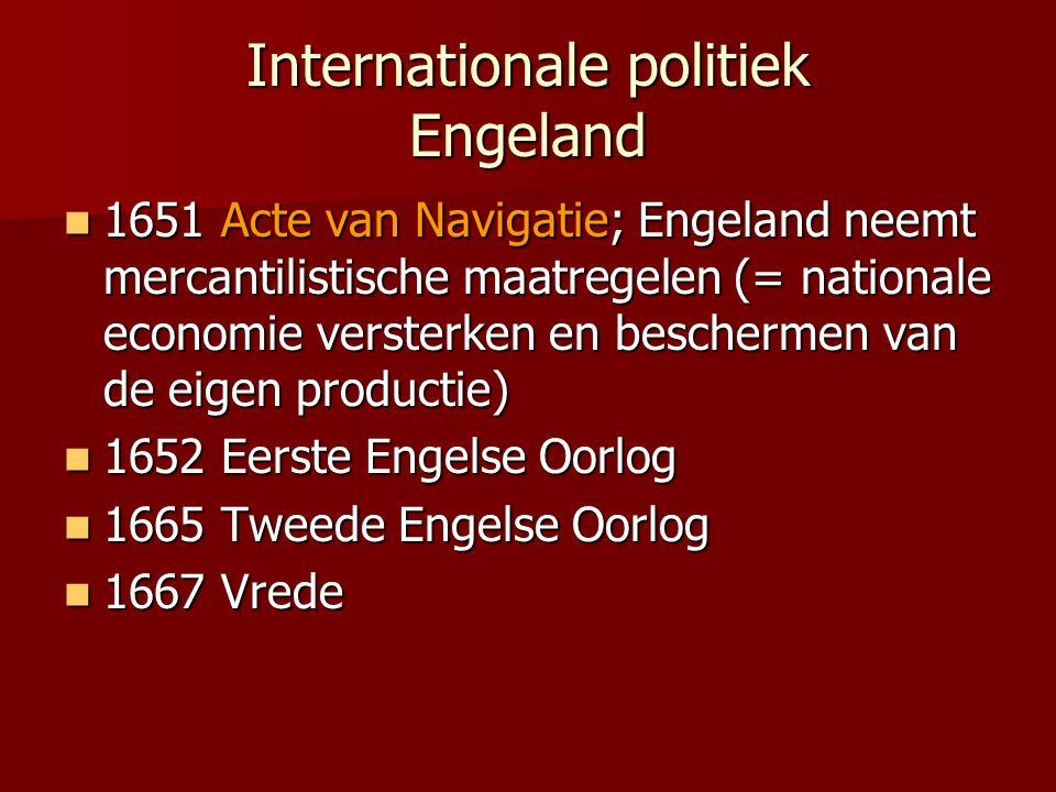 Internationale politiek Engeland