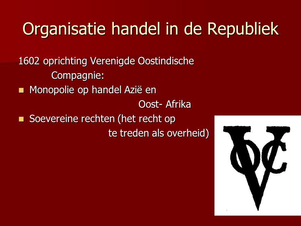 Organisatie handel in de Republiek