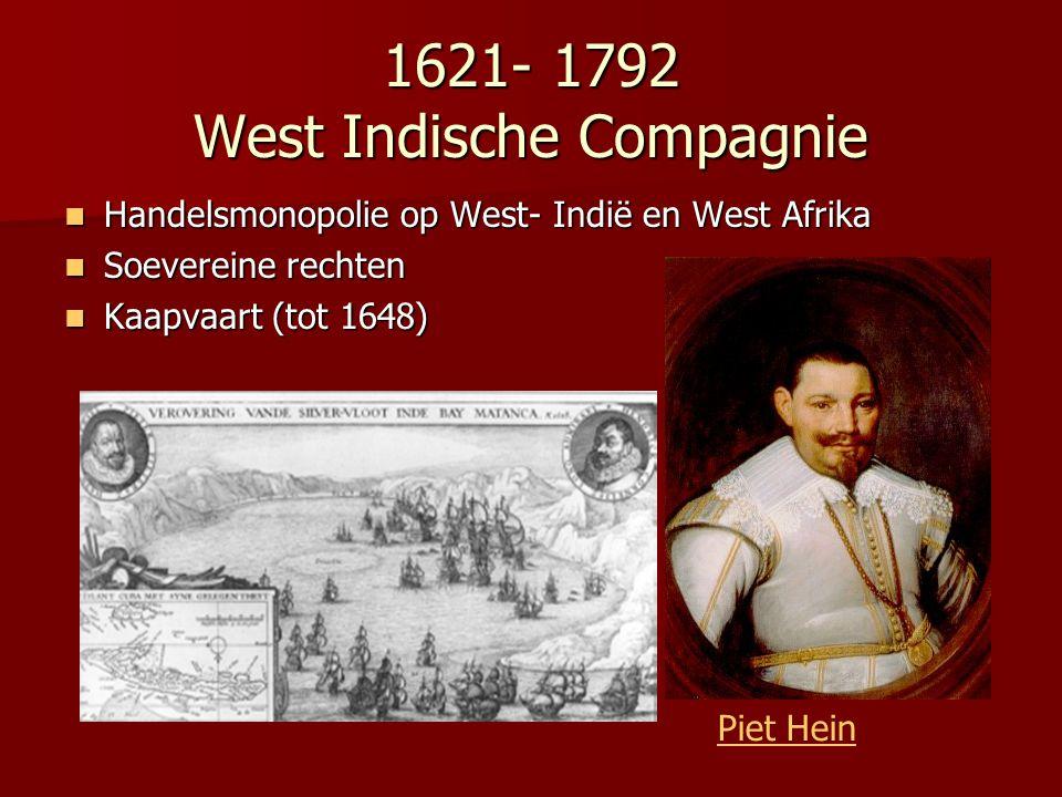 1621- 1792 West Indische Compagnie
