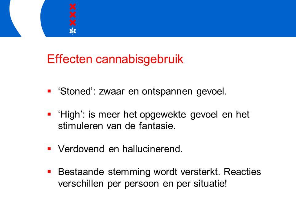 Effecten cannabisgebruik