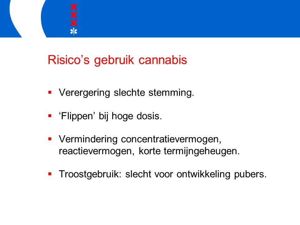 Risico's gebruik cannabis