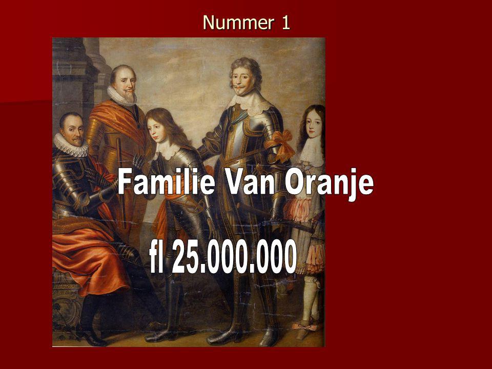 Nummer 1 Familie Van Oranje fl 25.000.000