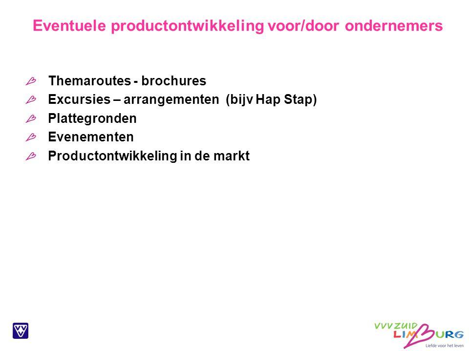 Eventuele productontwikkeling voor/door ondernemers