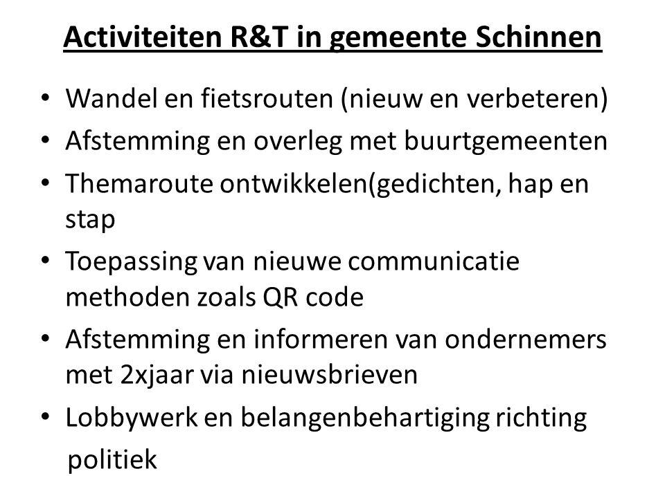 Activiteiten R&T in gemeente Schinnen