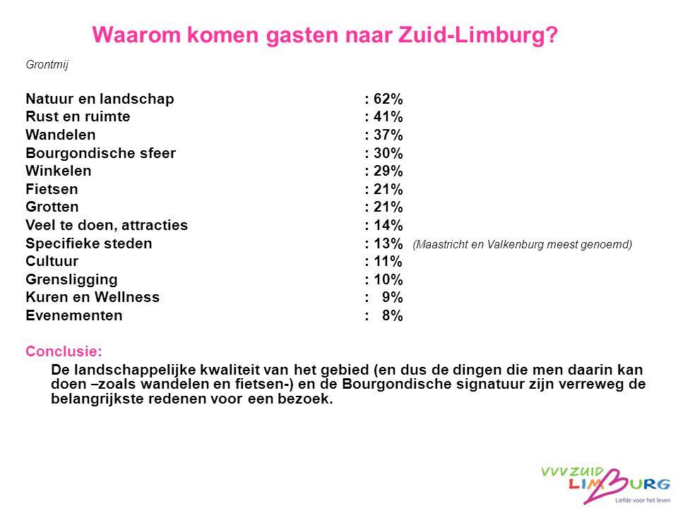 Waarom komen gasten naar Zuid-Limburg