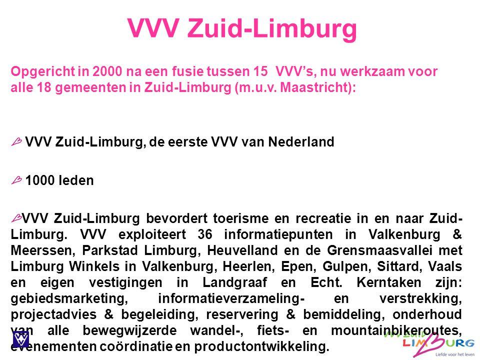 Opgericht in 2000 na een fusie tussen 15 VVV's, nu werkzaam voor alle 18 gemeenten in Zuid-Limburg (m.u.v. Maastricht):