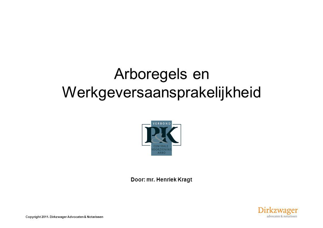 Arboregels en Werkgeversaansprakelijkheid