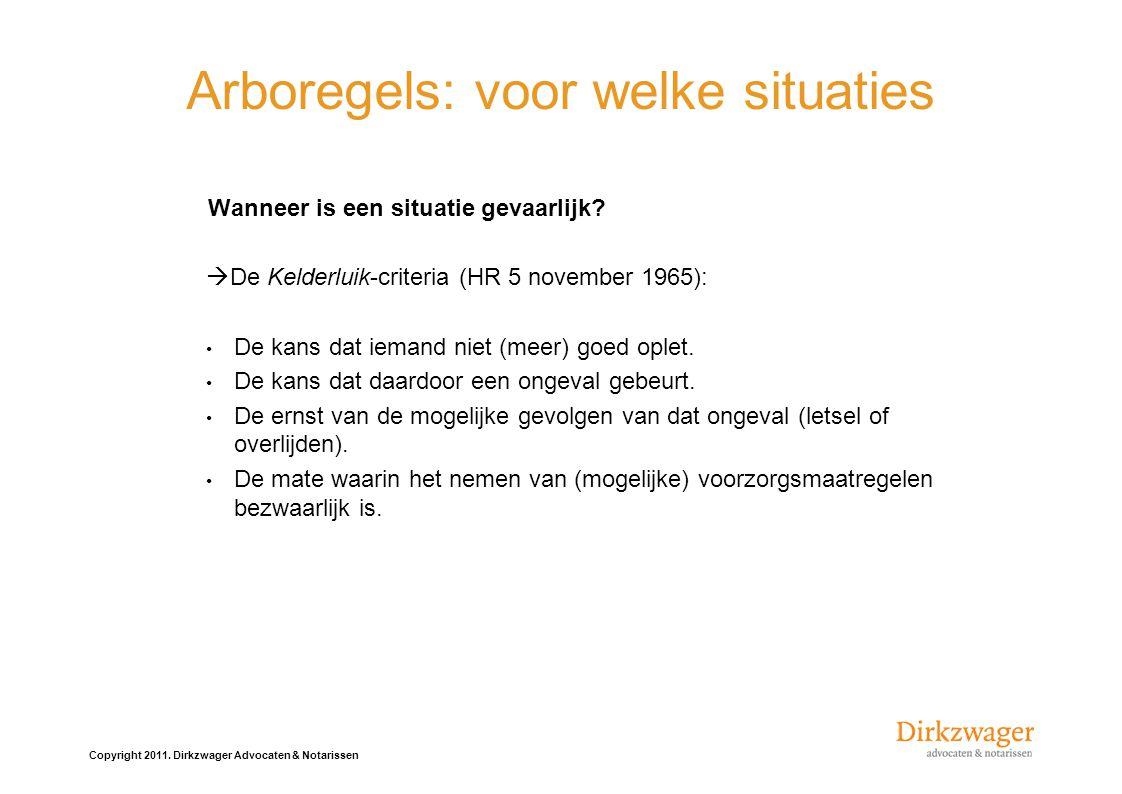 Arboregels: voor welke situaties