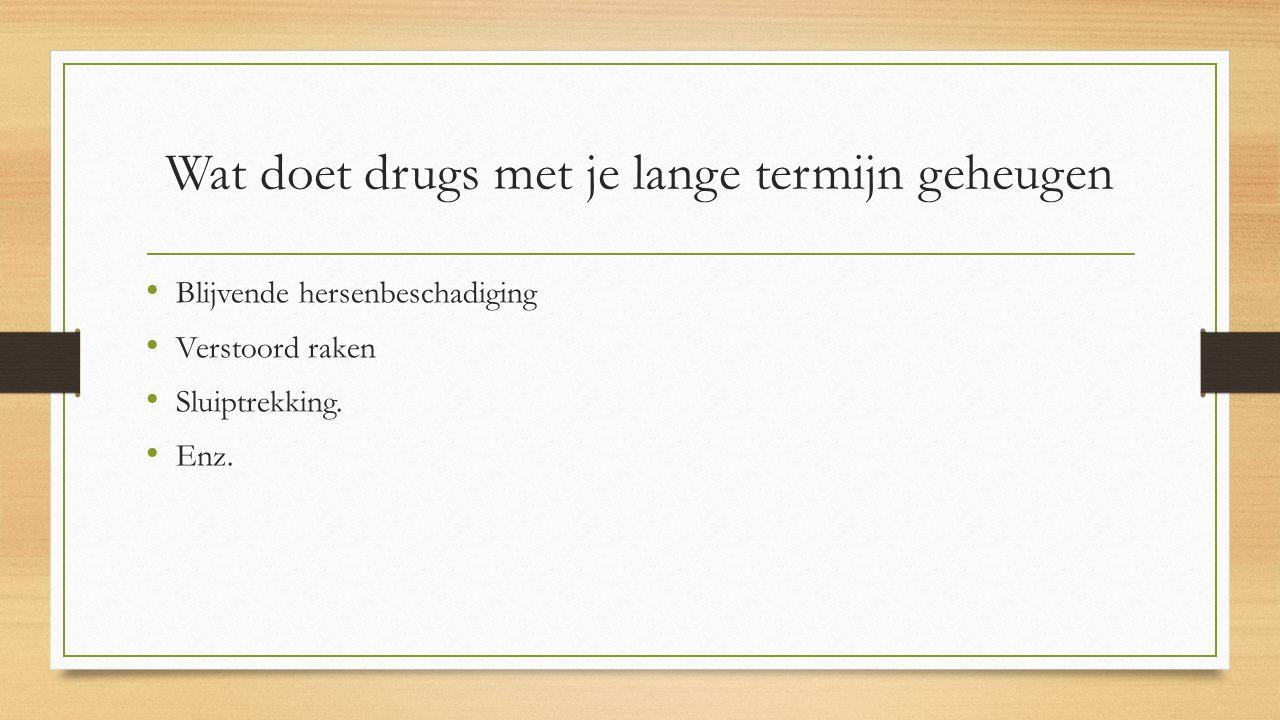 Wat doet drugs met je lange termijn geheugen