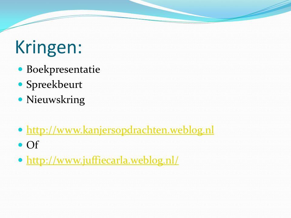 Kringen: Boekpresentatie Spreekbeurt Nieuwskring