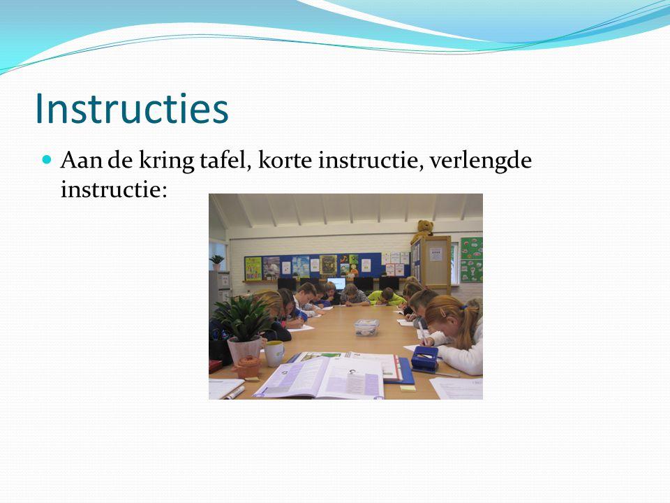 Instructies Aan de kring tafel, korte instructie, verlengde instructie: