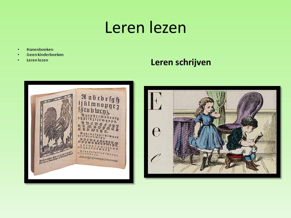 Leren lezen Hanenboeken Geen kinderboeken Leren lezen Leren schrijven