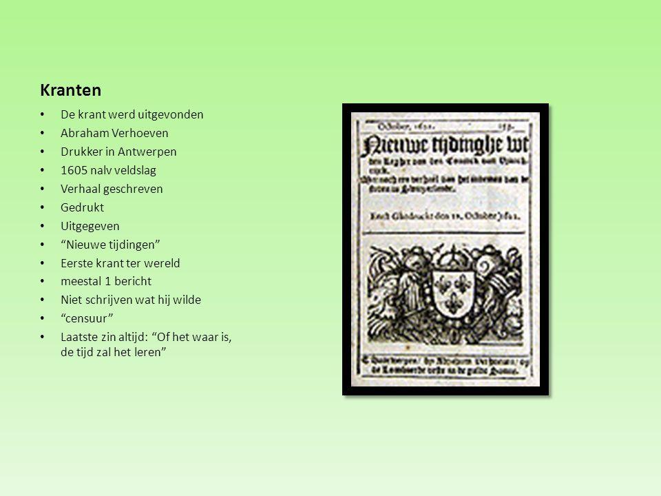 Kranten De krant werd uitgevonden Abraham Verhoeven