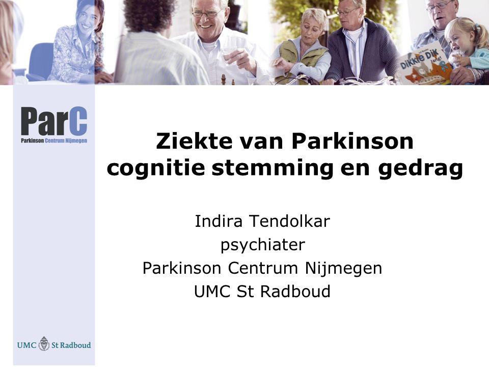 Ziekte van Parkinson cognitie stemming en gedrag