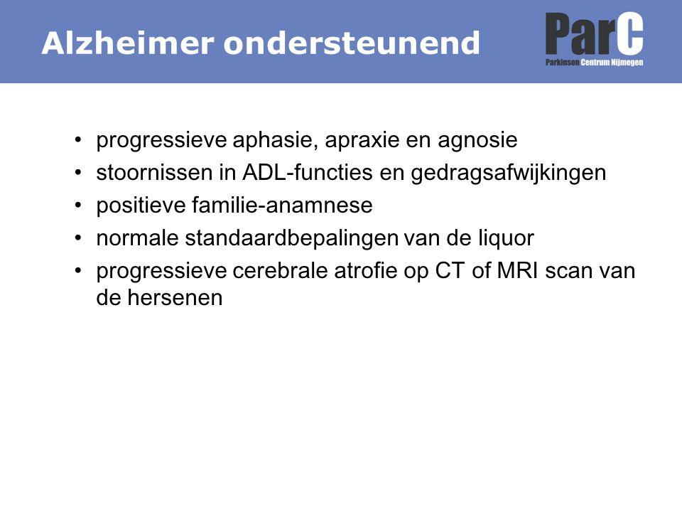 Alzheimer ondersteunend