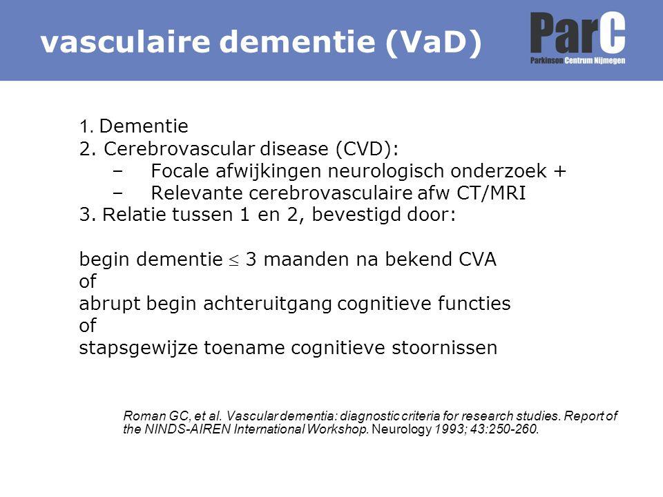 vasculaire dementie (VaD)