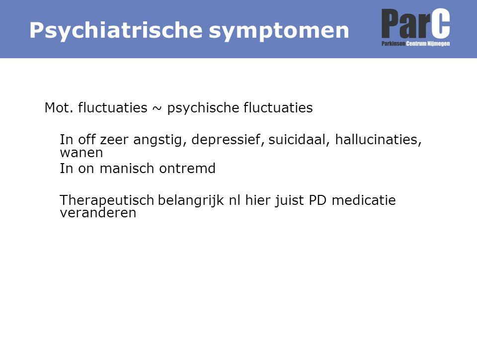 Psychiatrische symptomen