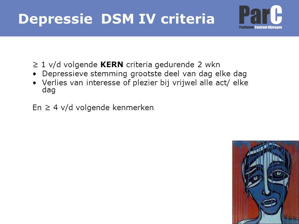 Depressie DSM IV criteria