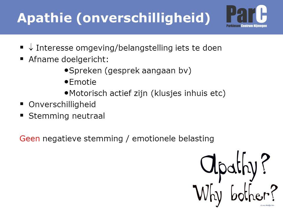 Apathie (onverschilligheid)