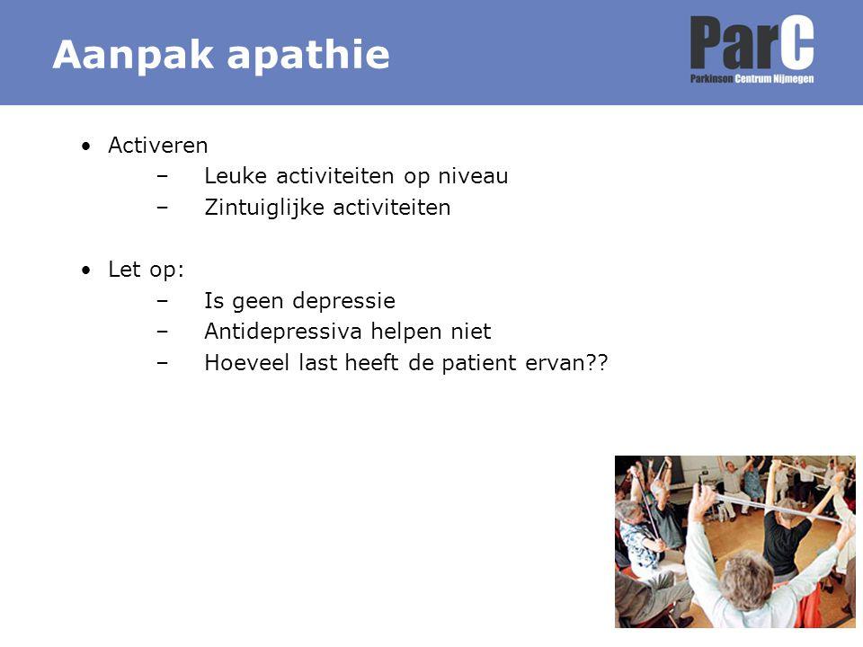 Aanpak apathie Activeren Leuke activiteiten op niveau