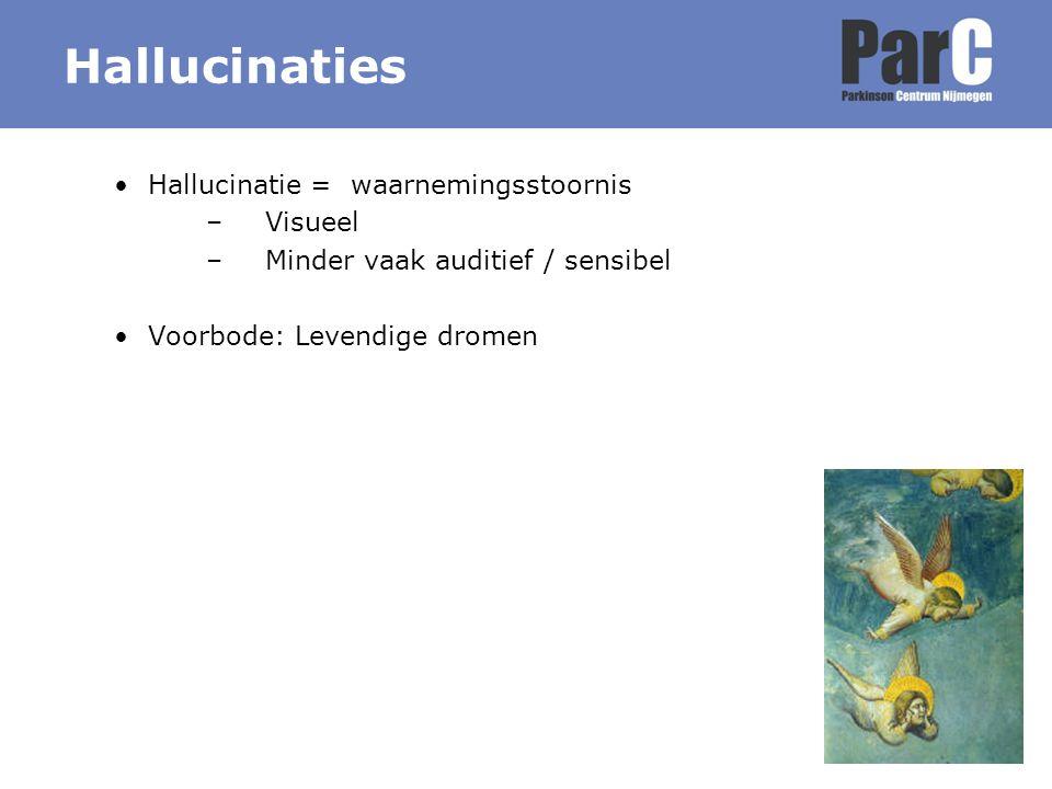 Hallucinaties Hallucinatie = waarnemingsstoornis Visueel