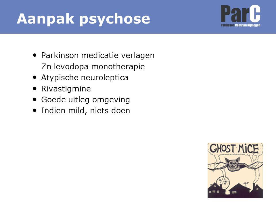 Aanpak psychose Parkinson medicatie verlagen Zn levodopa monotherapie