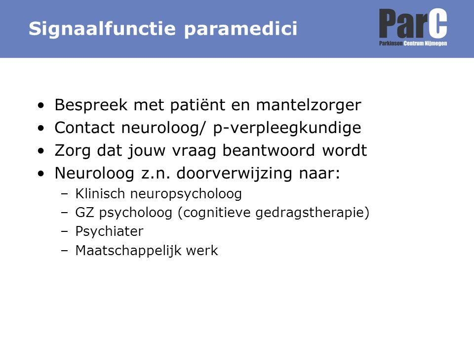 Signaalfunctie paramedici