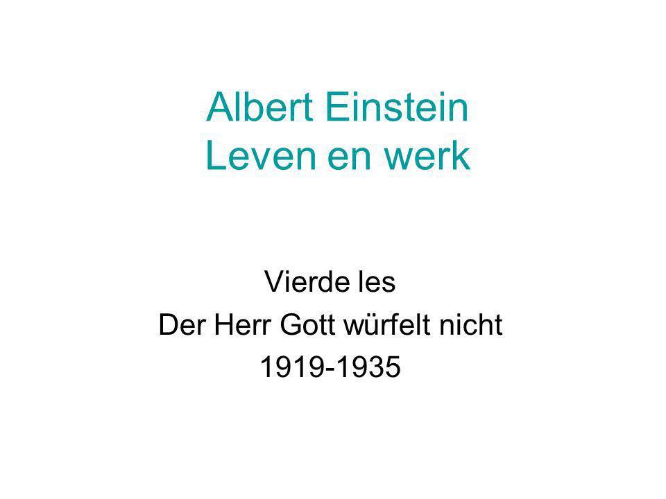 Albert Einstein Leven en werk