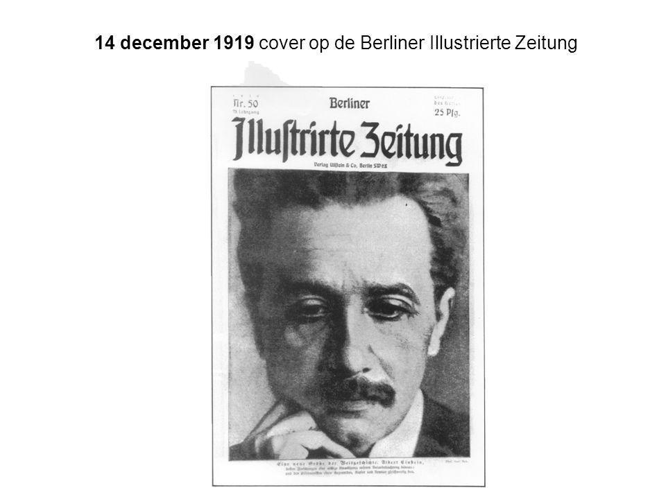 14 december 1919 cover op de Berliner Illustrierte Zeitung