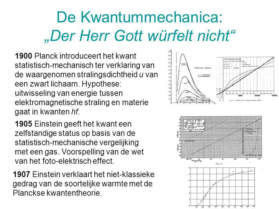 """De Kwantummechanica: """"Der Herr Gott würfelt nicht"""