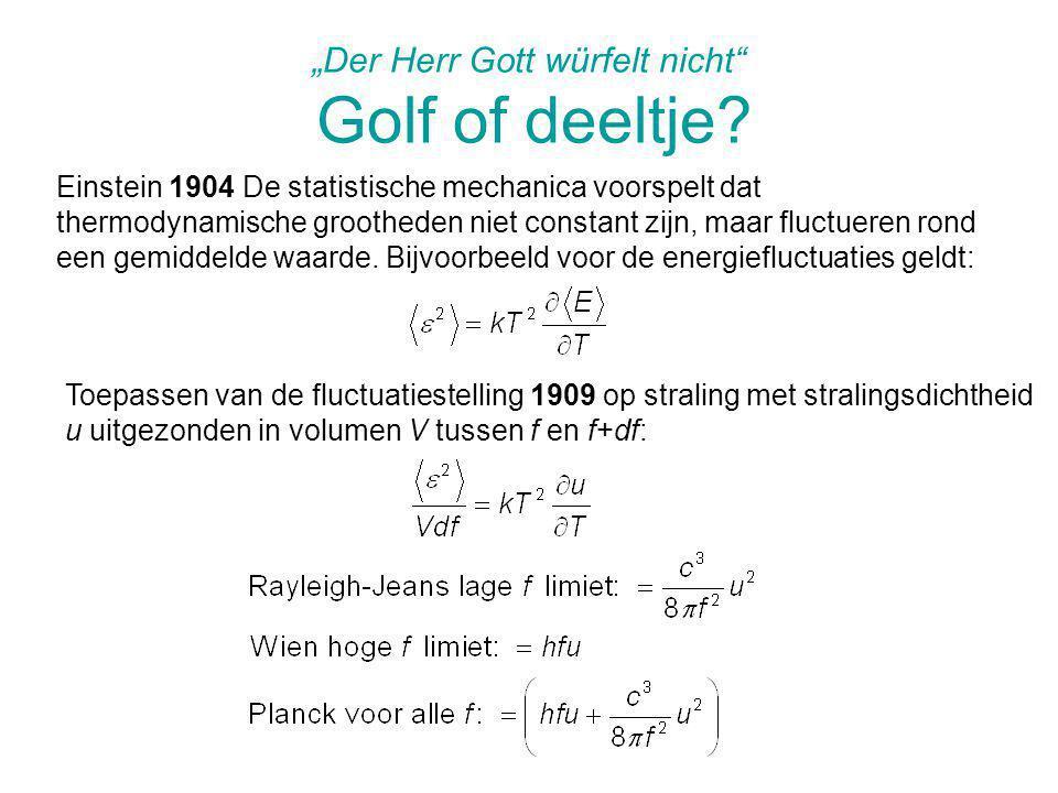 """""""Der Herr Gott würfelt nicht Golf of deeltje"""
