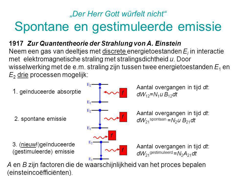 """""""Der Herr Gott würfelt nicht Spontane en gestimuleerde emissie"""