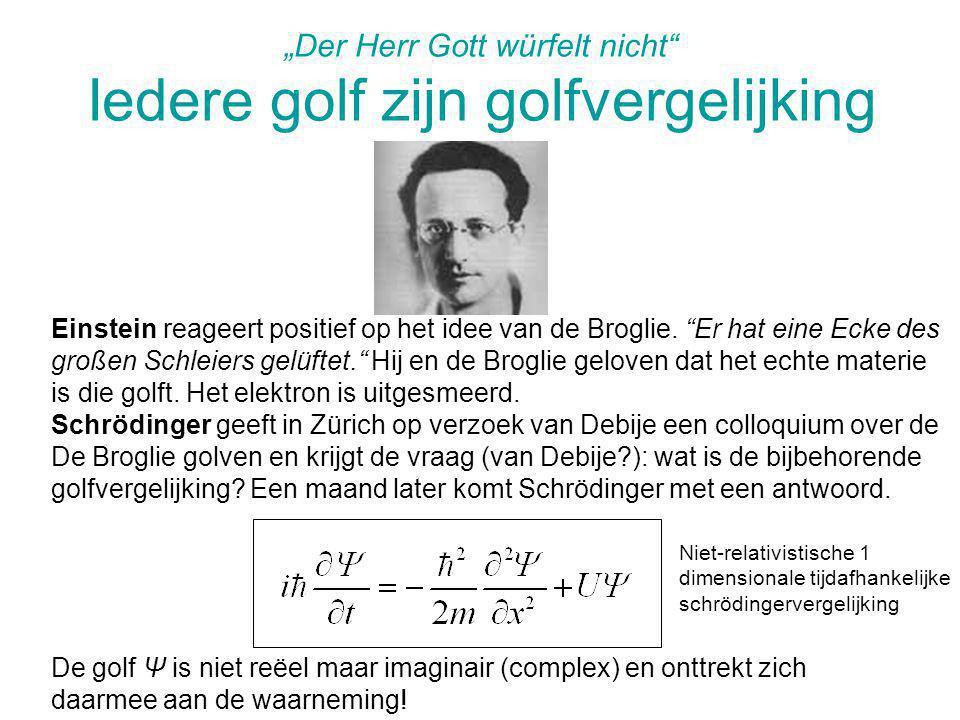 """""""Der Herr Gott würfelt nicht Iedere golf zijn golfvergelijking"""
