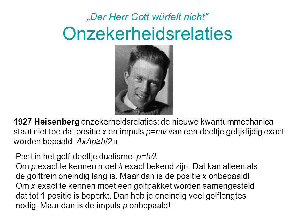 """Der Herr Gott würfelt nicht Onzekerheidsrelaties"