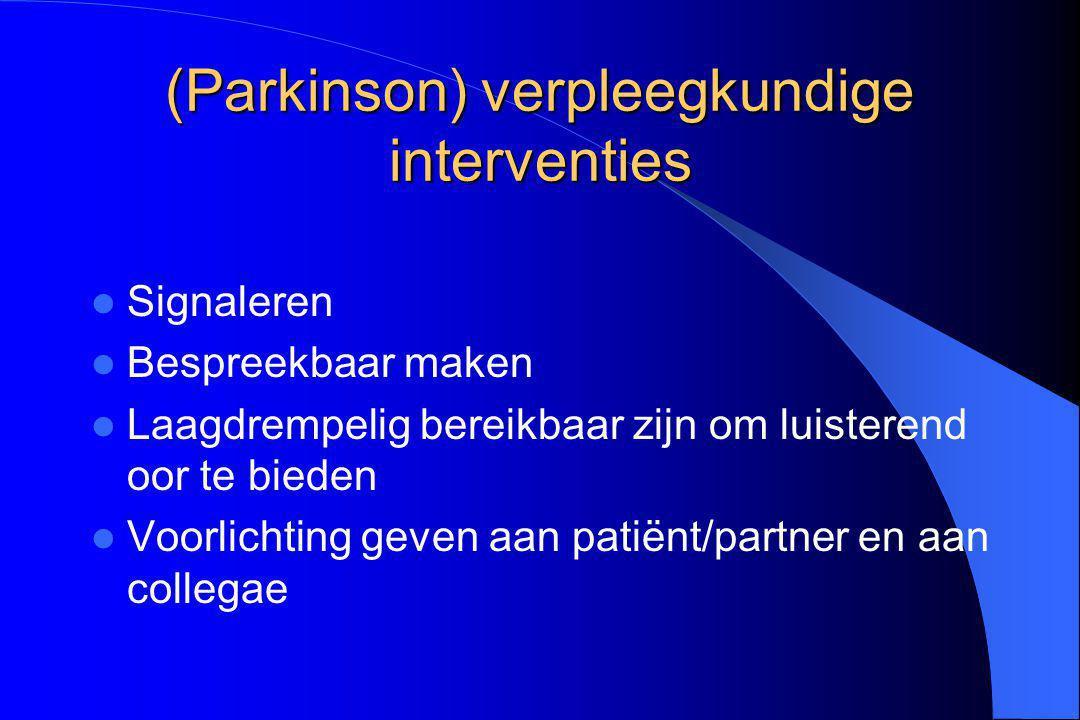 (Parkinson) verpleegkundige interventies