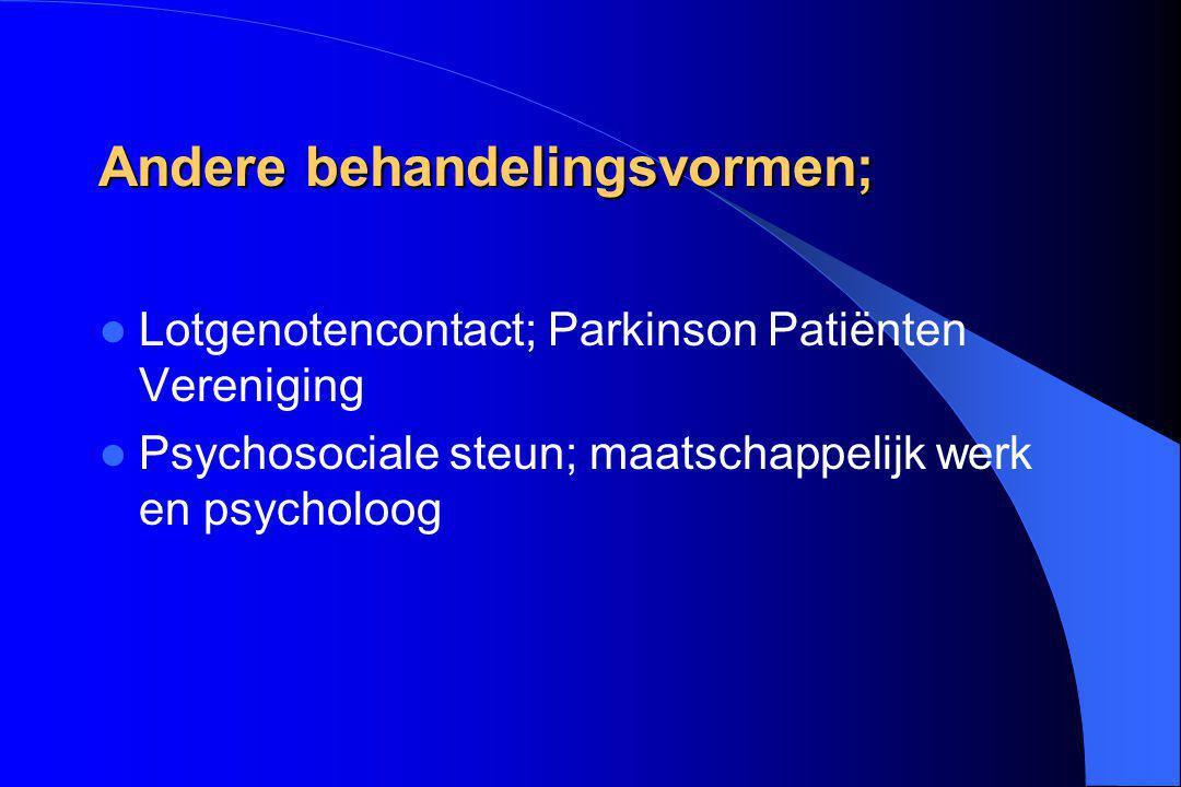 Andere behandelingsvormen;