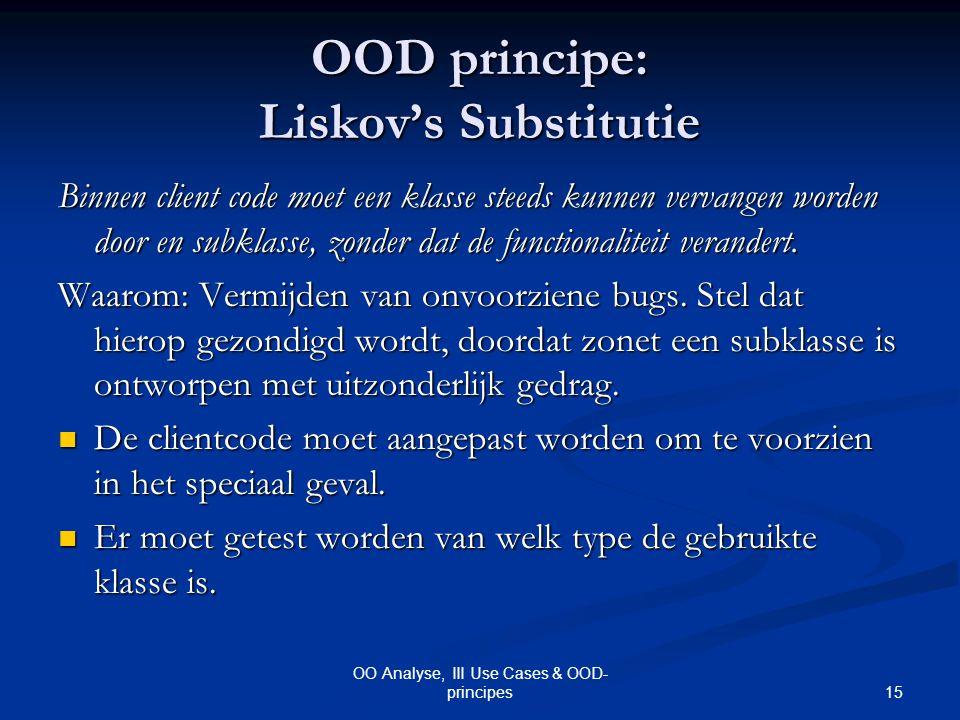 OOD principe: Liskov's Substitutie