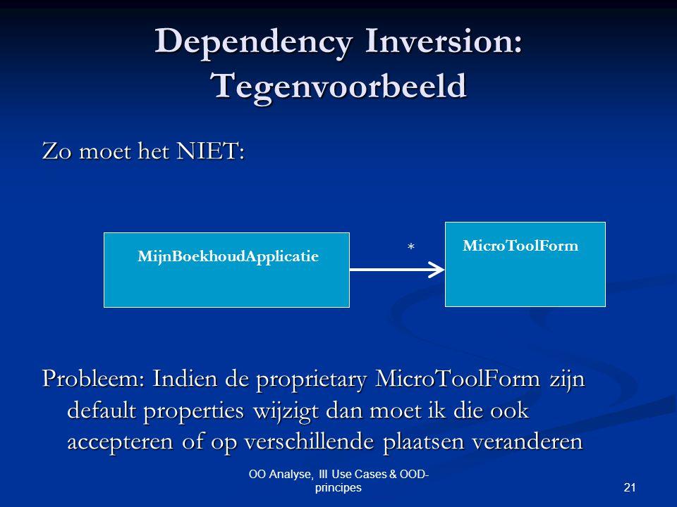 Dependency Inversion: Tegenvoorbeeld