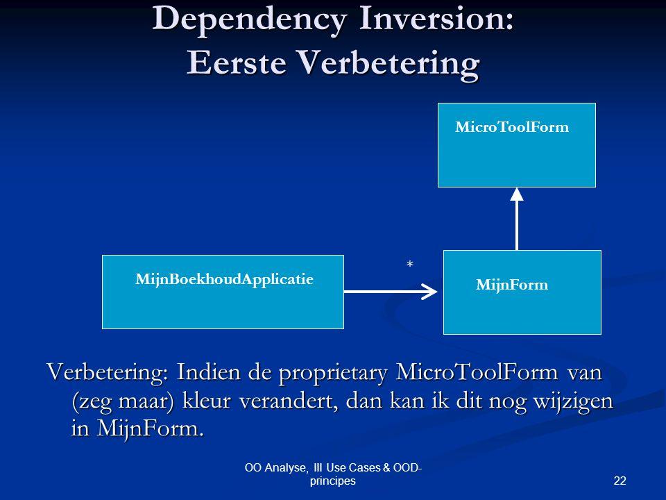 Dependency Inversion: Eerste Verbetering