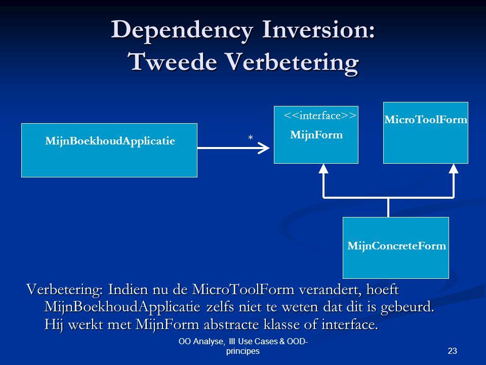 Dependency Inversion: Tweede Verbetering
