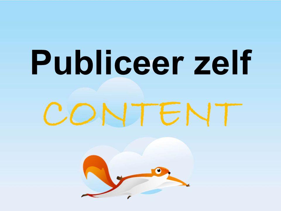 Publiceer zelf CONTENT