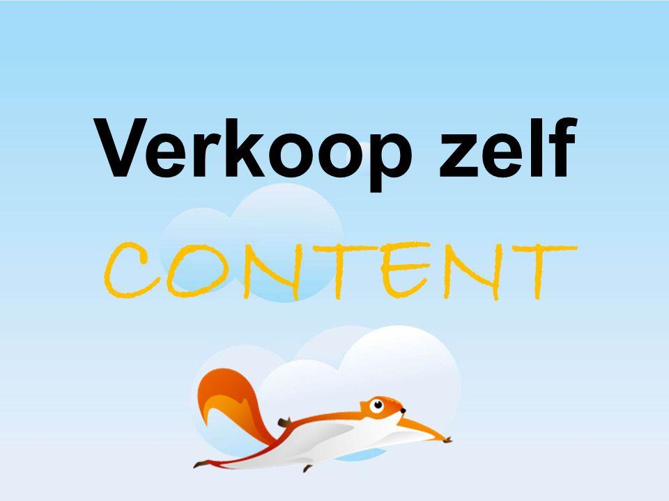 Verkoop zelf CONTENT In Beta meedoen: