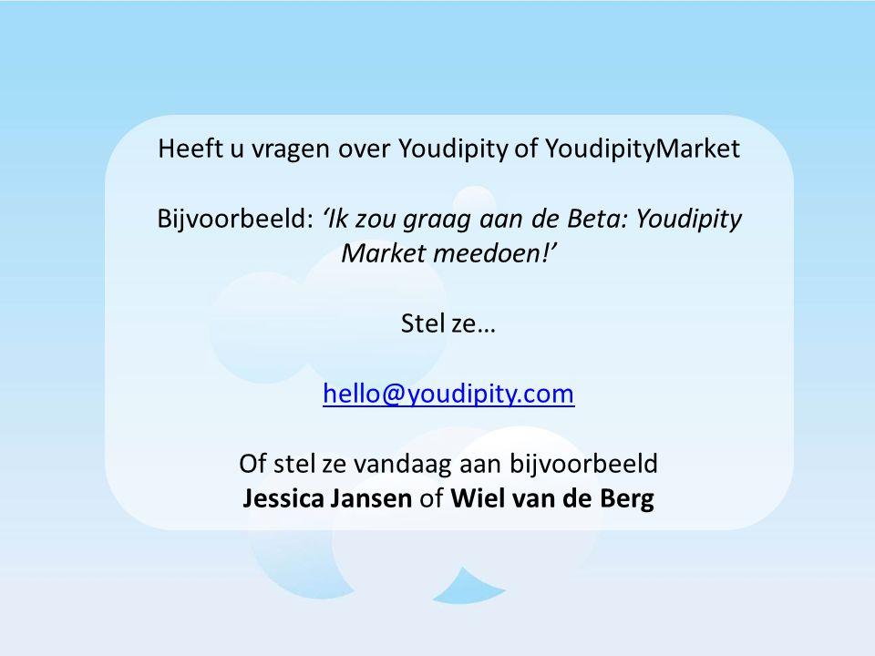 Heeft u vragen over Youdipity of YoudipityMarket