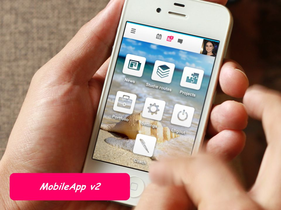 De MobileApp is puur bedoeld voor gebruik op smartphones