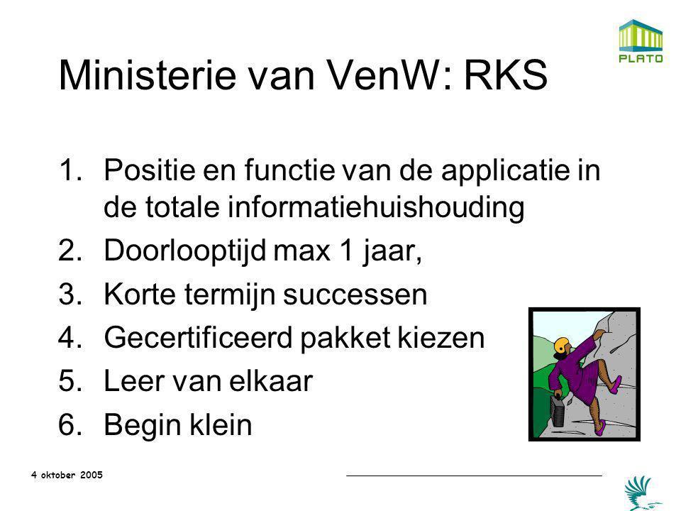 Ministerie van VenW: RKS